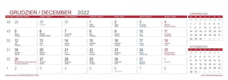 Kalendarz biurkowy z notesami i znacznikami MAXI 2022 seledynowy