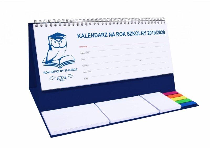 Kalendarz biurkowy EXCLUSIVE PLUS na rok szkolny 2019/2020 - granatowy