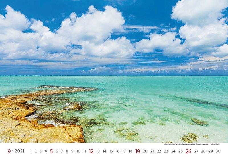 Kalendarz ścienny wieloplanszowy Sea 2021 - wrzesień 2021