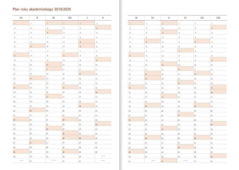 Kalendarz akademicki - Plan roku akademickiego 2019/2020