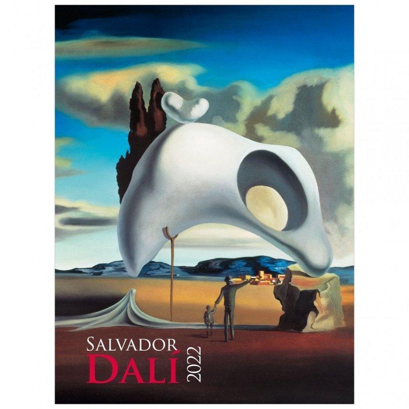 Kalendarza ścienny wieloplanszowy z reprodukcjami obrazów Salvadora Dali - okładka 2022