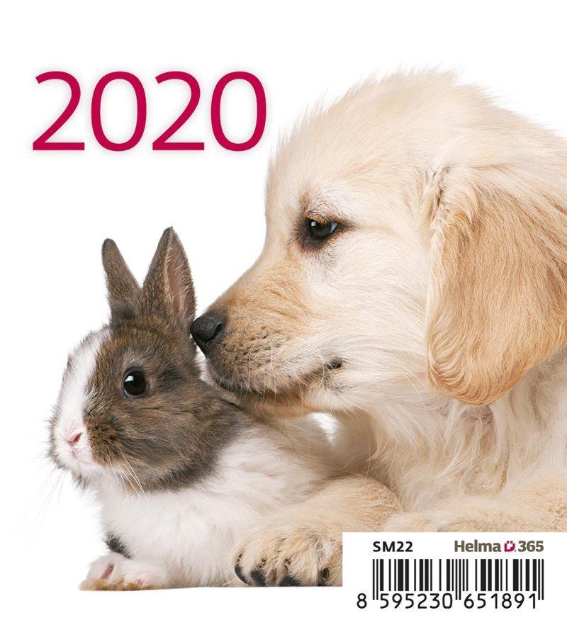 Kalendarz biurkowy mini Zwierzątka 2020 - okładka