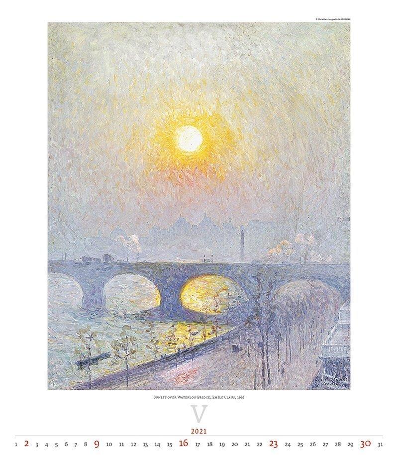 Kalendarz ścienny wieloplanszowy Impressionism 2021 - exclusive edition - maj 2021