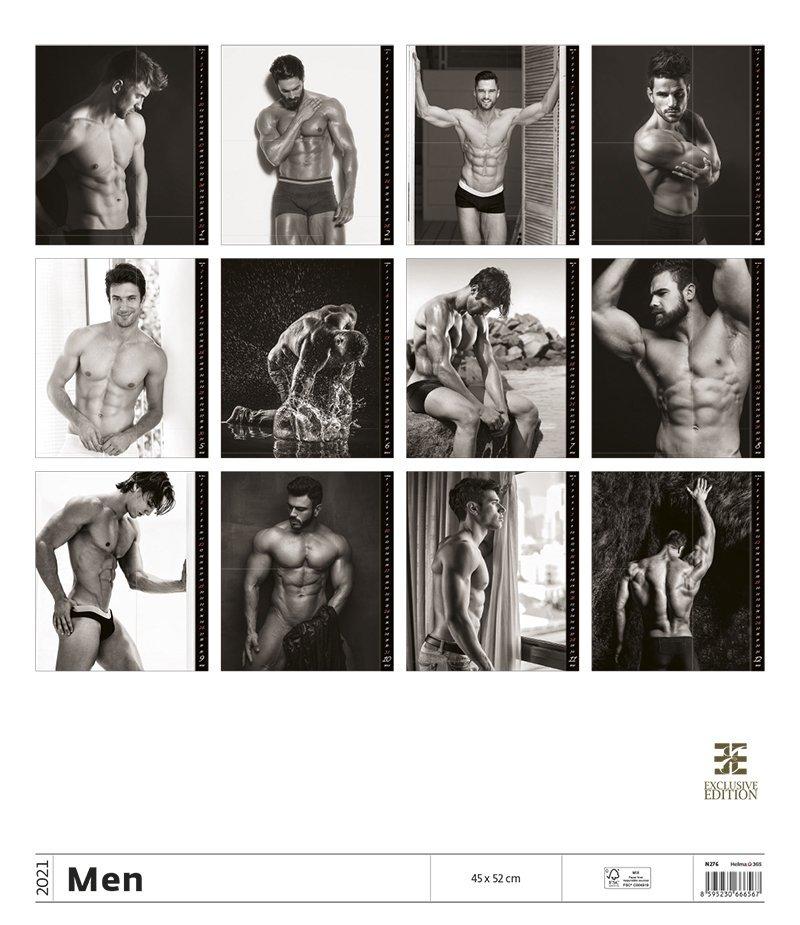 Kalendarz ścienny wieloplanszowy Men 2021 - exclusive edition - tylna okładka
