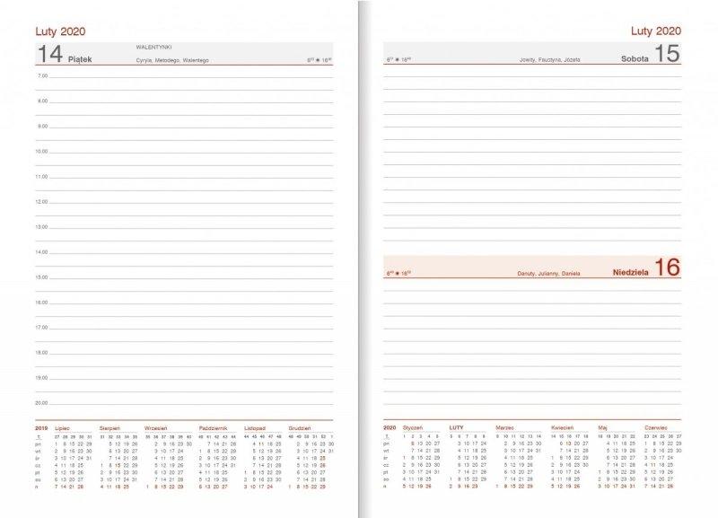 Kalendarz nauczyciela 2019/2020 układ dzienny, sobota/niedziela razem