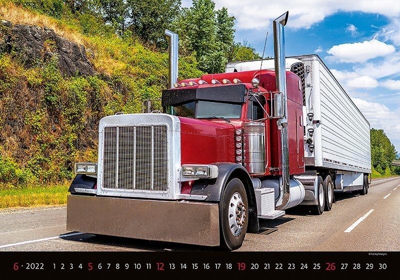 Kalendarz ścienny wieloplanszowy Trucks 2022 - czerwiec 2022