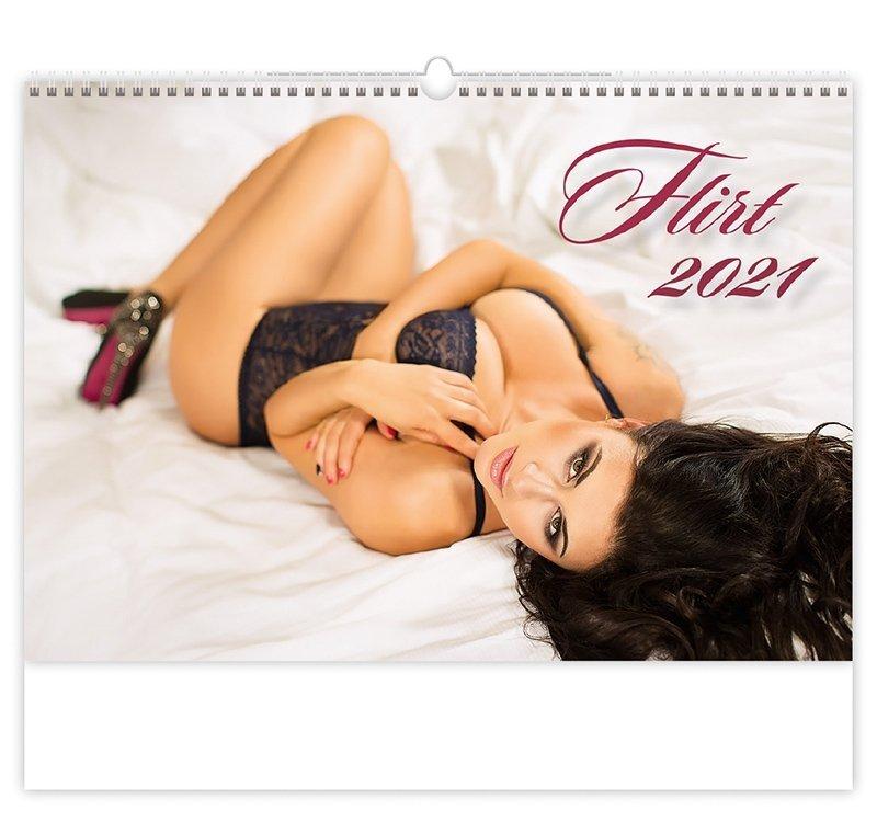 Kalendarz ścienny wieloplanszowy Flirt 2021 - okładka