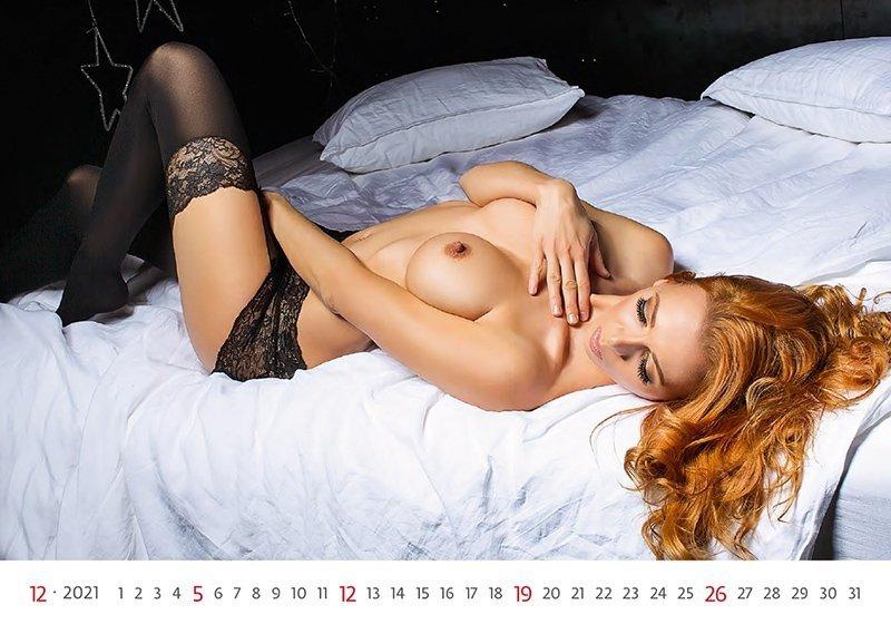 Kalendarz ścienny wieloplanszowy Flirt 2021 - grudzień 2021