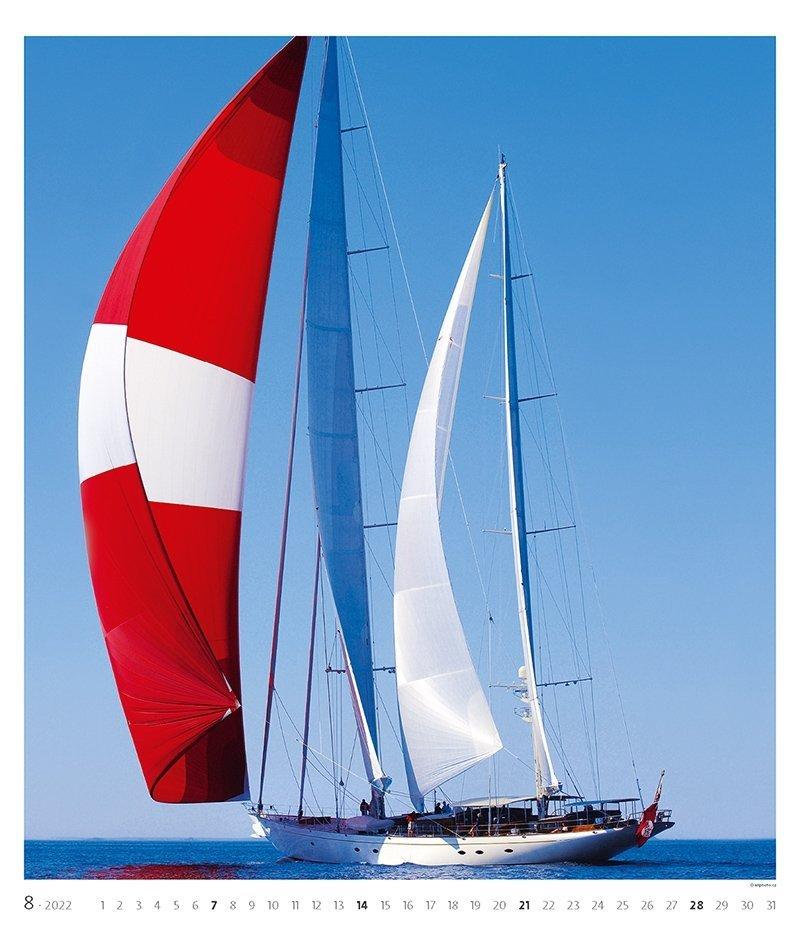 Kalendarz ścienny wieloplanszowy Sailing 2022 - exclusive edition - sierpień 2022