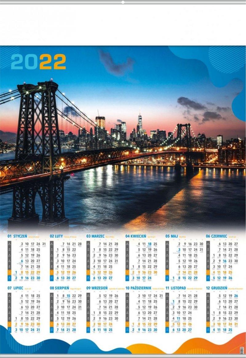 Kalendarz plakatowy B1/14 MOST 2022