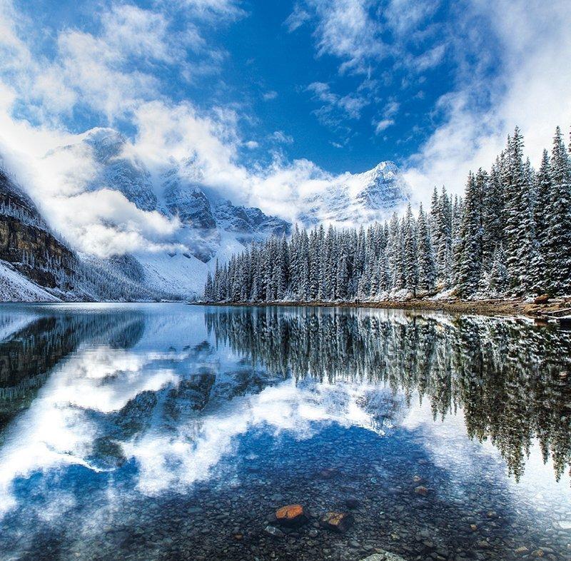 Kalendarz ścienny wieloplanszowy National Parks 2022 z naklejkami - grudzień 2022