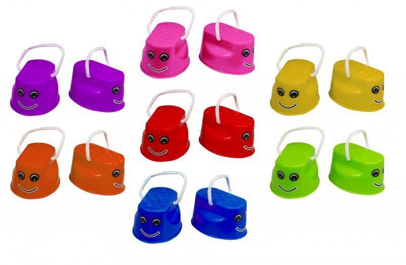 Szczudła dla dzieci chodaczki sport równowaga żółty