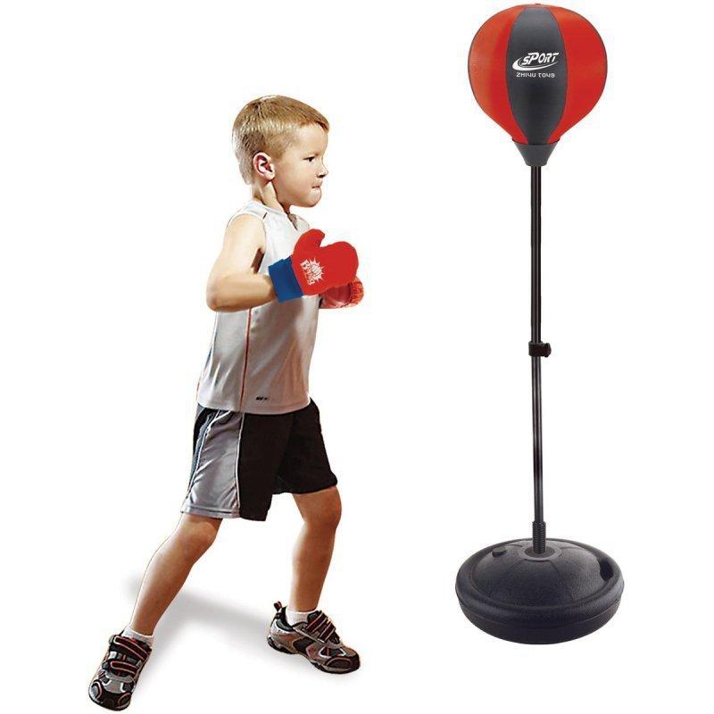 Zestaw bokserski dla dzieci regulowany 80-102cm z rękawicami