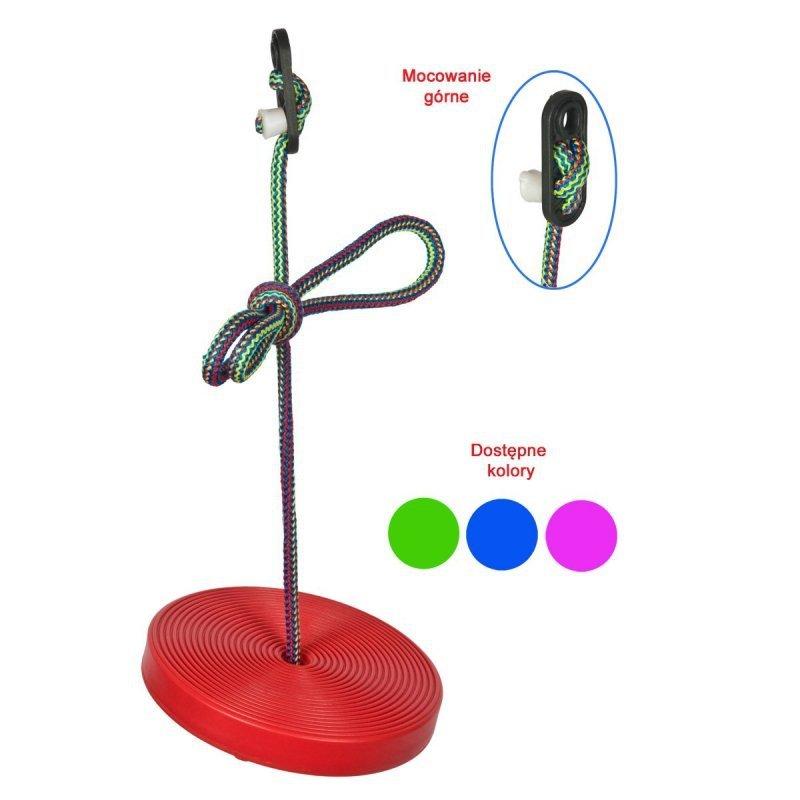 Huśtawka-ogrodowa-koło-plastikowa-czerwona-1