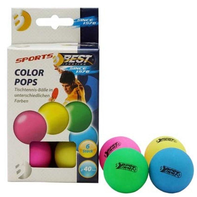 Piłeczki do tenisa stołowego kolorowe 6 szt