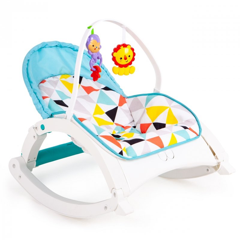 Fotelik bujaczek 3w1 wibracje + zabawki ECOTOYS
