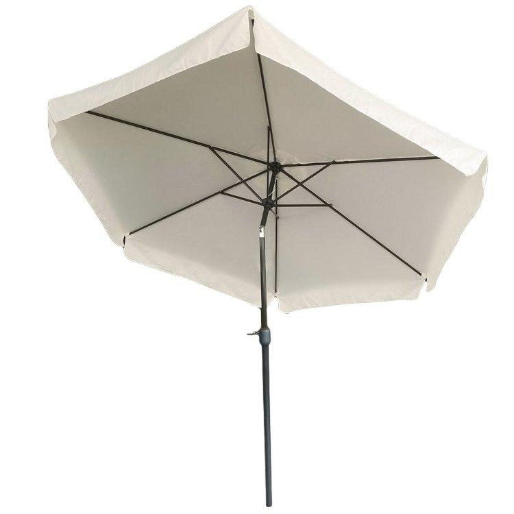 Parasol ogrodowy z korbką skośny składany 300cm
