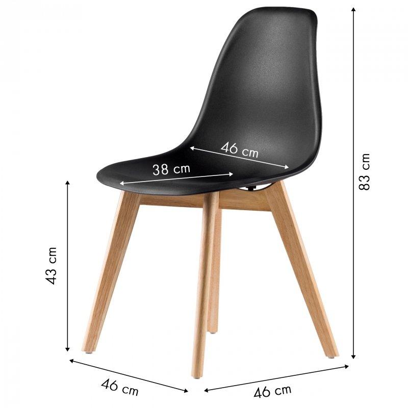 Krzesło krzesła zestaw krzeseł do salonu 4x ModernHome