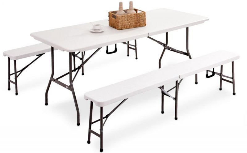 Ławka ławeczka do stołu cateringowego komplet 2szt