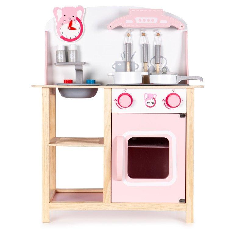 Drewniana kuchnia dla dzieci z dźwiękami Ecotoys