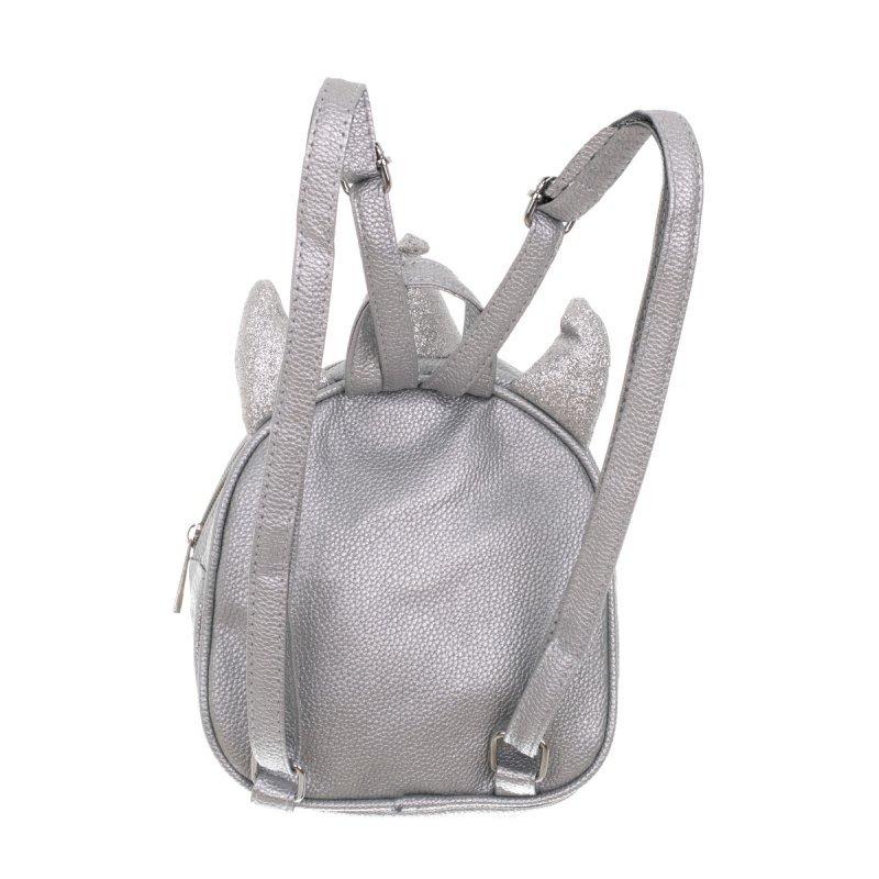 Plecak przedszkolaka cekinowy mini jednorożec srebrny