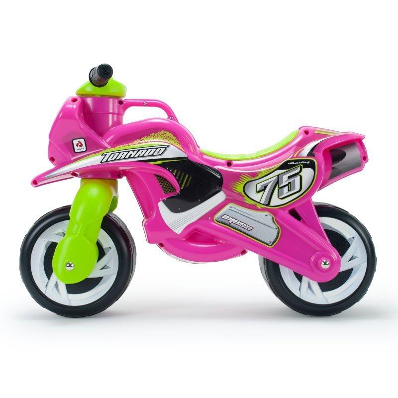Różowy Motorek Biegowy Jeździk dla dzieci Tundra Tornado Injusa