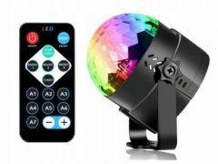 Projektor RGB LED kula disco dyskotekowa + pilot