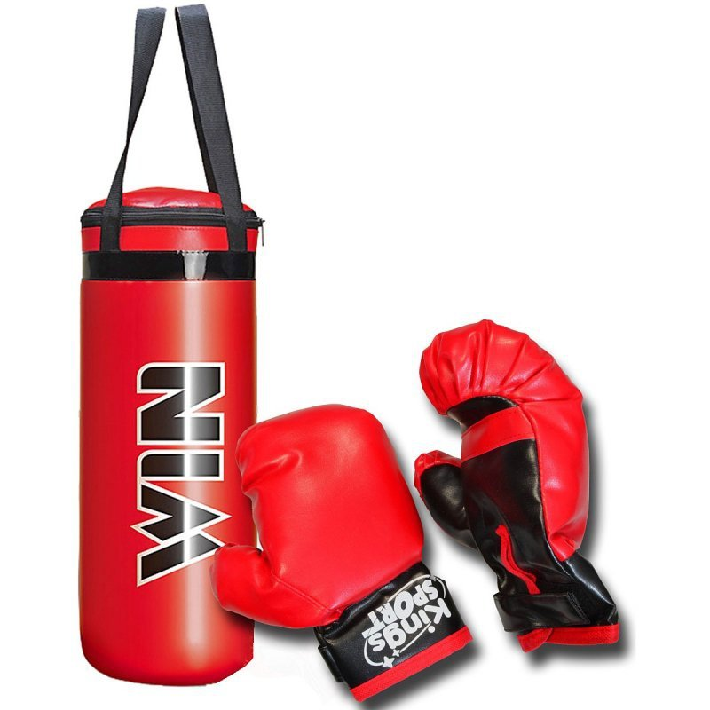 Zestaw-bokserski-junior-worek-22,5x15x38,5cm-i-rękawice