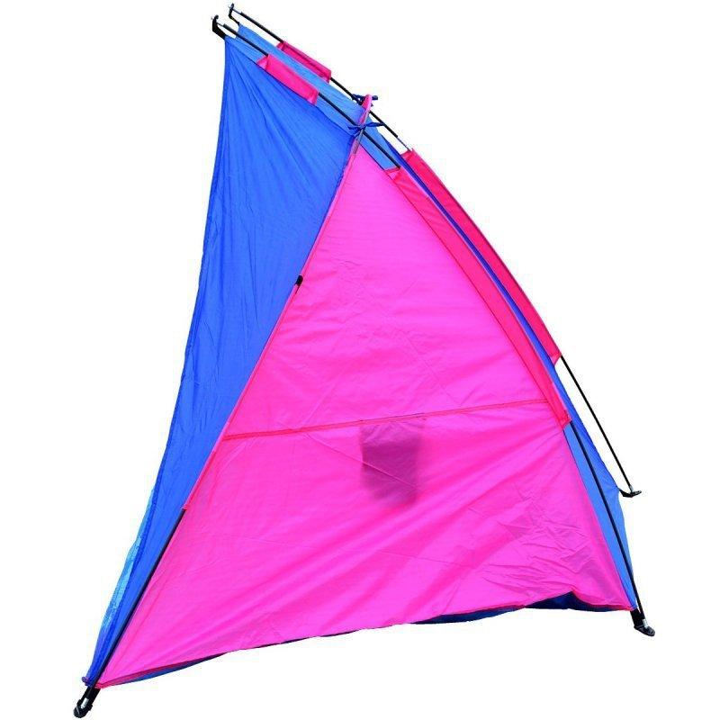 Namiot Osłona Plażowa Sun 200X100X105Cm Niebiesko-Różowa