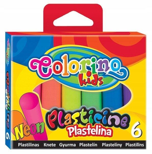 PLASTELINA NEONOWA COLORINO 6 KOLORÓW