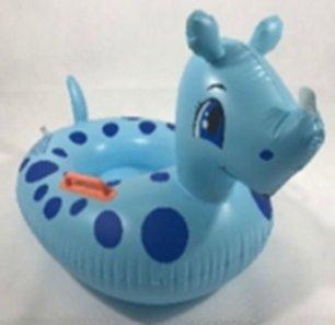 Materac dmuchany pontonik koło dla dzieci nosorożec