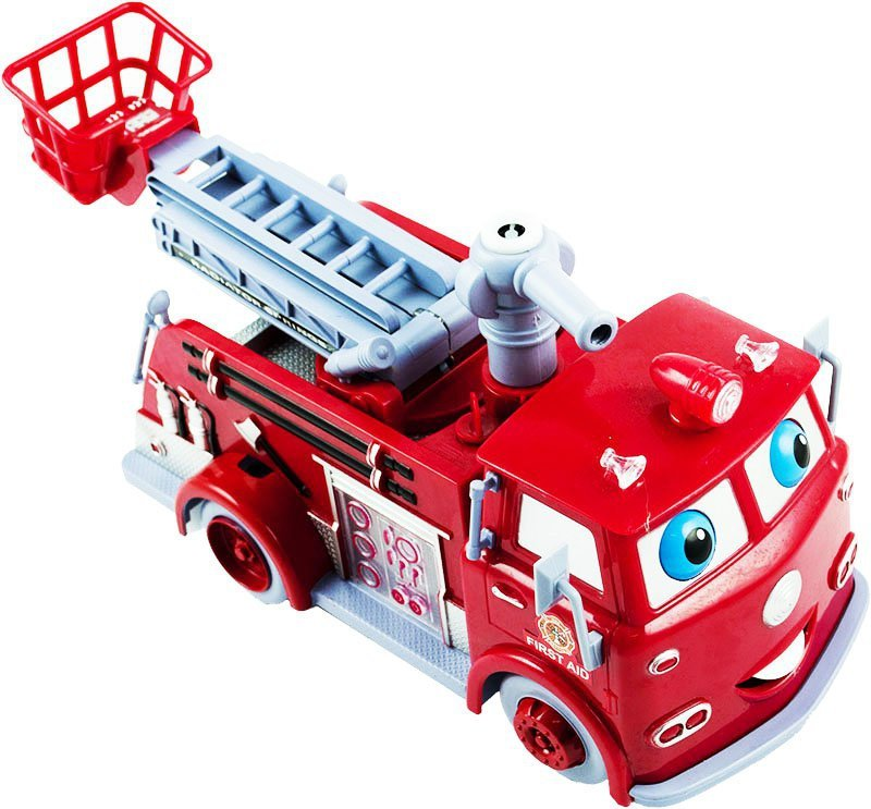 Straż pożarna Bańkowy wóz bańki mydlane dźwięk światło