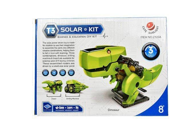 Zabawka Edukacyjna Dinozaur Robot Solarny DIY