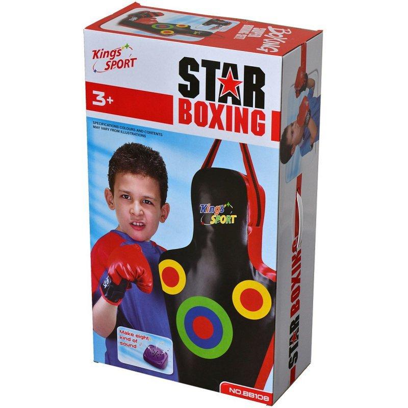 Zestaw bokserski junior manekin 59,5x17x34,5cm + rękawice