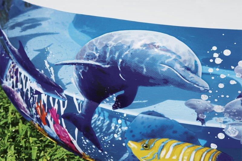 BASEN DMUCHANY FAMILIJNY RAFA KORALOWA 262cm x 157cm x 46cm