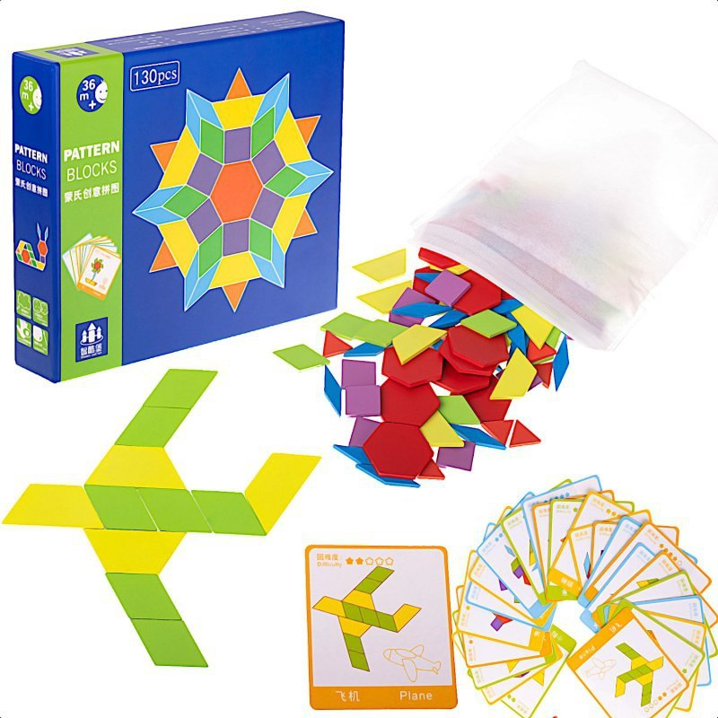Puzzle-drewniane-układanka-Montessori-155-el.-klocki