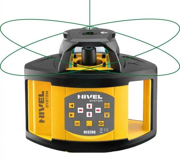 Nivel System NL520G zestaw  z łatą i statywem korbowym