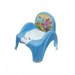 Nocnik-krzesełko safari z pozytywką niebieski