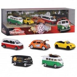 MAJORETTE Zestaw Samochodów Volkswagen 5szt