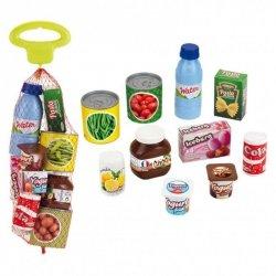 Ecoiffier Zestaw Produktów Spożywczych Puszki Pudełeczka w Siatce