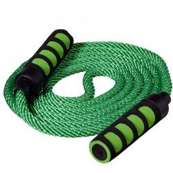 Skakanka bawełna 400cm BEST SPORTING rączki soft - zielona