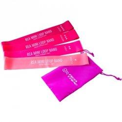 Zestaw Taśm Mini Power Band Fitness Tubing Loop Rea pink 4 szt