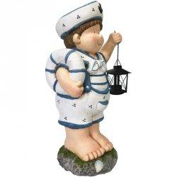 Figurka ogrodowa marynarz z lampionem chłopiec 50cm