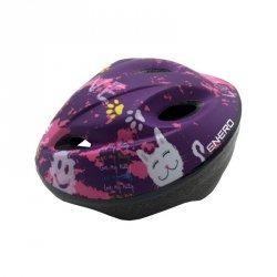 Kask rowerowy dziecięcy regulowany Enero Love Kitty r.S (47-49cm)