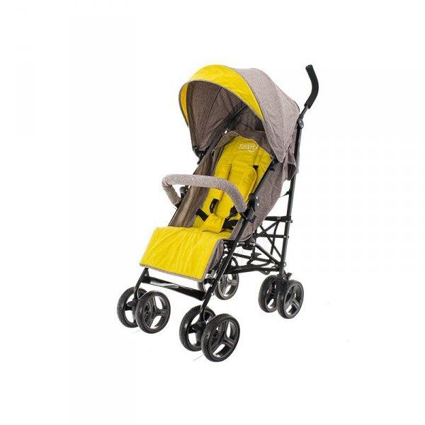 Wózek spacerowy smart pro beżowo-żółty
