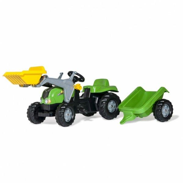 Rolly Toys Traktor na pedały z łyżką i przyczepą 2-5 Lat do 30 kg