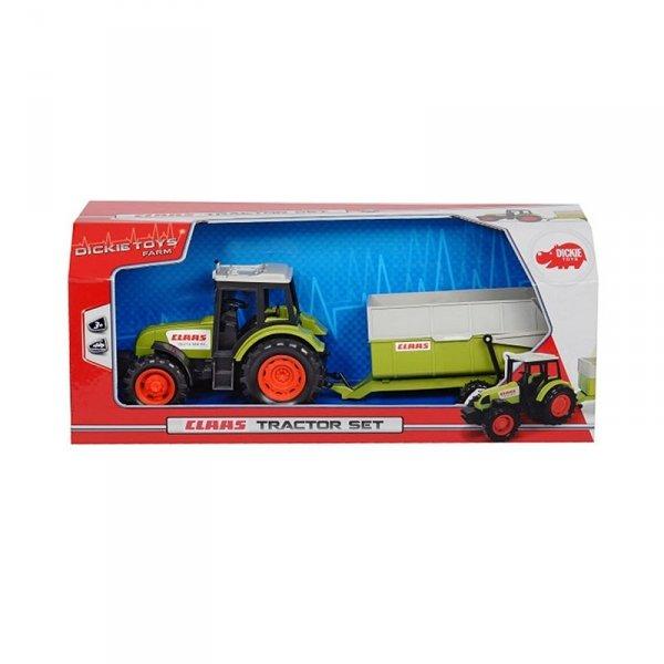 Dickie Farm Traktor z Przyczepą CLAAS 36 cm