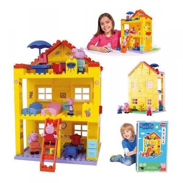 BIG Klocki Świnka Peppa (107 el.) Piętrowy Dom + FIGURKI