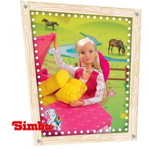 SIMBA Lalka Steffi Love z Koniem w Stajni + Akcesoria