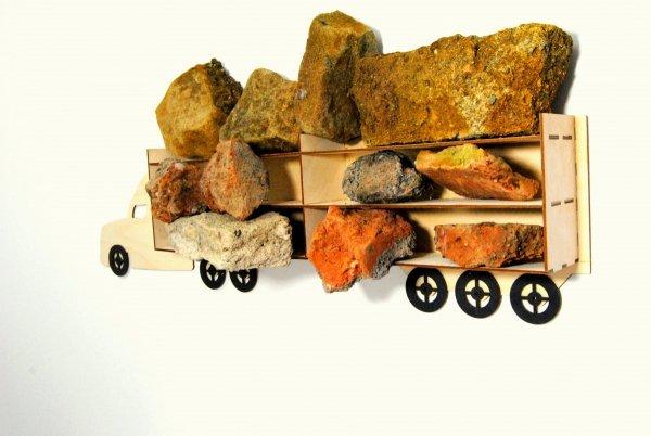 EKO Półka ciężarówka na autka drewniana